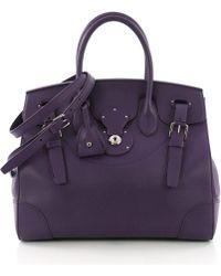 Ralph Lauren Collection - Pre-owned Ricky33 Purple Leather Handbags - Lyst da6ec9126fc9f