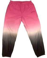 Supreme Multicolour Polyester Trousers - Pink
