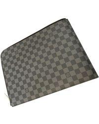Louis Vuitton Leinen Kleinlederwaren - Grau