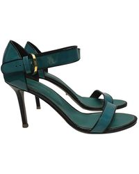 Sergio Rossi - Blue Leather Heels - Lyst