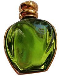Dior Broche en metal dorado - Verde
