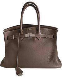 Hermès Birkin 35 Leder Handtaschen - Grau