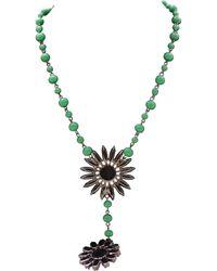 DANNIJO - \n Green Silver Necklace - Lyst