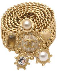 Chanel Cinturón en cadena dorado - Metálico