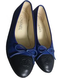 Chanel Leather Ballet Flats - Blue