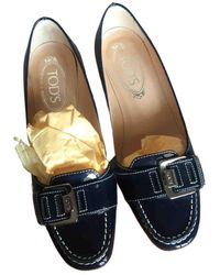 Tod's Patent Leather Ballet Flats - Blue