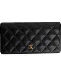 Chanel Portefeuilles Timeless/Classique en Cuir Noir