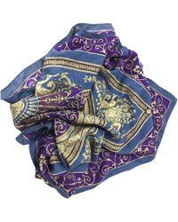 Versace Multicolour Silk - Blue