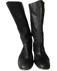 Zadig & Voltaire Leather Riding Boots - Black