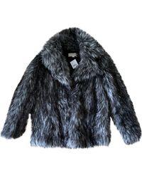 Michael Kors Faux Fur Caban - Grey