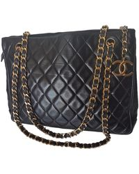 Chanel Leder Handtaschen - Schwarz