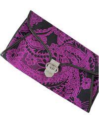 Karen Millen Cloth Clutch Bag - Black