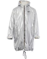 Nike Silver Synthetic Coat - Metallic