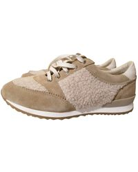 Claudie Pierlot Faux Fur Sneakers - Natural