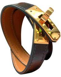 Hermès Bracelets Kelly en Cuir Noir