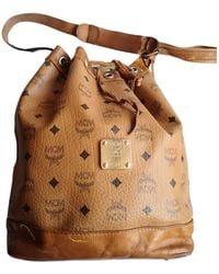 MCM Heritage Drawstring Leather Bag - Brown