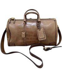 Burberry Brown Alligator Bag