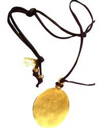 Isabel Marant Collar en metal dorado - Multicolor