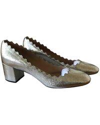 Chloé Lauren Leather Heels - Metallic