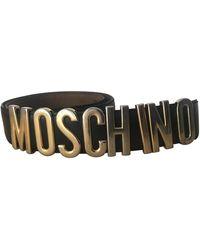 Moschino Leder Gürtel - Schwarz