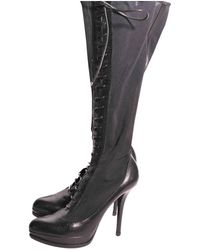 Dior Vintage Black Leather Boots