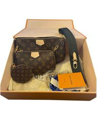 Louis Vuitton Multi Pochette Accessoires Leinen Cross body tashe - Mehrfarbig