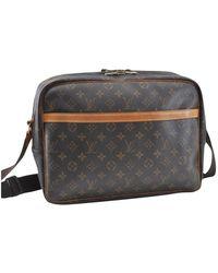 Louis Vuitton - Reporter Brown Cloth Handbag - Lyst