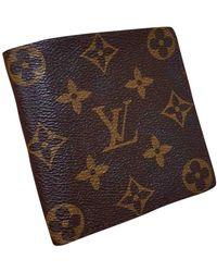 Louis Vuitton Piccola pelletteria in tela marrone Marco