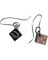 Dior Pendientes en metal plateado - Metálico