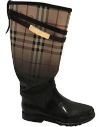 Burberry Wellington Boots - Brown