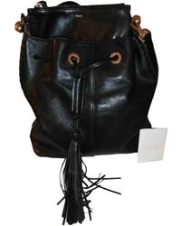 Chloé Gala Leather Handbag - Black