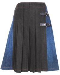 Jean Paul Gaultier - Wool Mini Skirt - Lyst
