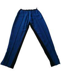 Céline Blue Viscose Trousers