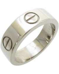 Cartier - Pre-owned Love White White Gold Rings - Lyst