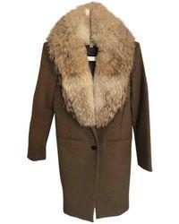 Michael Kors Wool Coat - Natural