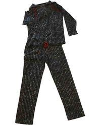 Chanel Anthracite Cashmere Jumpsuits - Multicolour
