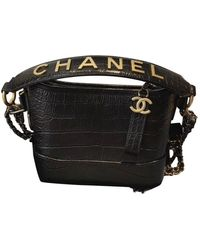 Chanel Gabrielle Black Leather Handbag