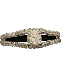 Chanel Anello in oro bianco argentato Camélia - Metallizzato