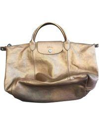 Longchamp - Pliage Leather Handbag - Lyst