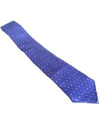 Hermès Cravatta in seta blu