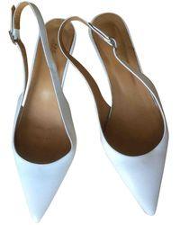 A.P.C. Ecru Leather Heels - Multicolour