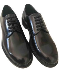 Loewe Patent Leather Lace Ups - Black
