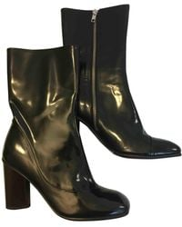 By Malene Birger Black Patent Leather Boots