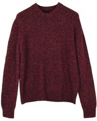 JOSEPH - Red Wool Knitwear & Sweatshirts - Lyst