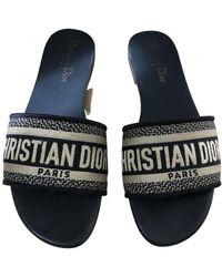 Dior Dway Leder Pantoffeln - Mehrfarbig