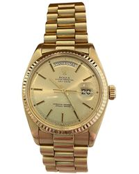 Rolex Day-Date 36mm Gelbgold Uhren - Mehrfarbig