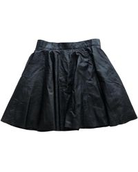 Timo Weiland Leather Mini Skirt - Black