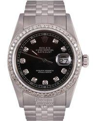 Rolex - Vintage Datejust 36mm Black Steel Watches - Lyst