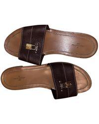 Louis Vuitton Leder Pantoffeln - Mehrfarbig
