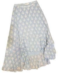 Maje Maxi Skirt - Blue